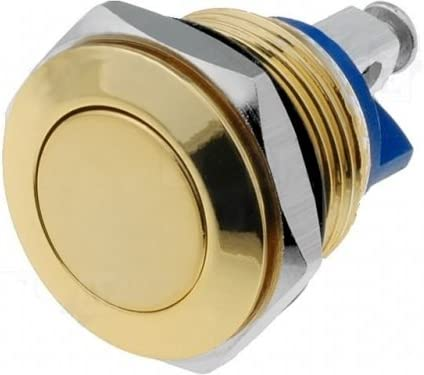 Drucktaster 16mm Vollmetal Messing/Gold farbig max 2A 48V