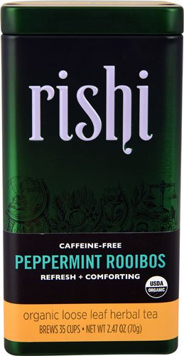 Rishi Tea Organic Loose Leaf Herbal Tea Peppermint Rooibos -- 2.47 oz