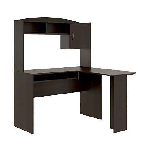 Mainstays L Shaped Desk With Hutch Espresso Furniture