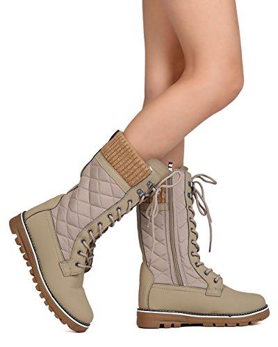 Polar Snow Boots Lined 01 Fur Women's Warm Winter Taupe10 WestCoast Tall HxF8qRwHd