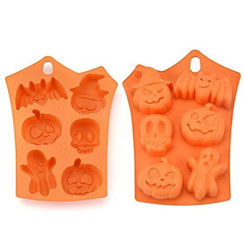 Hunzed Cake Mould, Creative Silicone Pumpkin Cake Mold Halloween Decorating Halloween Cookie Soap Mould Tool Kitchen Bake -