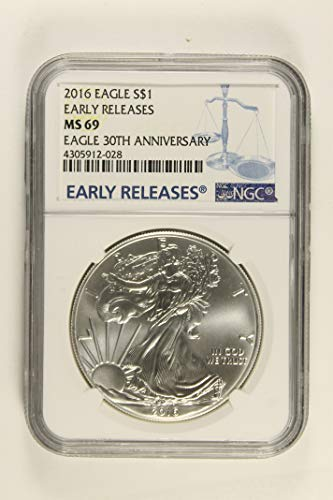 2016 American Eagle Early Release 30th Anniversary $1 MS69 NGC
