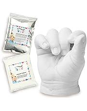 Lucky Hands 3D Baby Casting Kit | Newborns & Babys | Handprint & Footprint (0-6 months | 2-3 casts | no accessories)