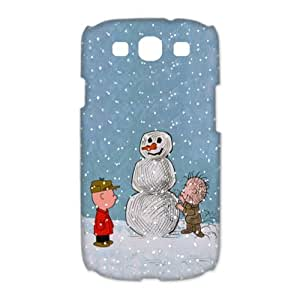 Samsung Galaxy S3 I9300(3D) Phone Case Charlie Brown Peanuts and Snowman