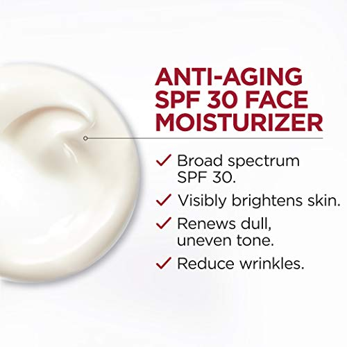 41ZXIh euZL - Face Moisturizer with SPF 30 by L'Oreal Paris, Revitalift Bright Reveal Anti-Aging Day Cream with Glycolic Acid, Vitamin C & Pro-Retinol to Reduce Wrinkles & Brighten Skin, 1 fl. oz.