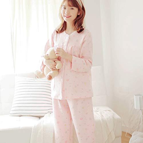 L Estilo Pijamas De Pink Huifa La Para Mujeres Pink Estampado color Tamaño Embarazadas A Fijados Después Con Botones Damas Lactancia Botón BAxqHnOn