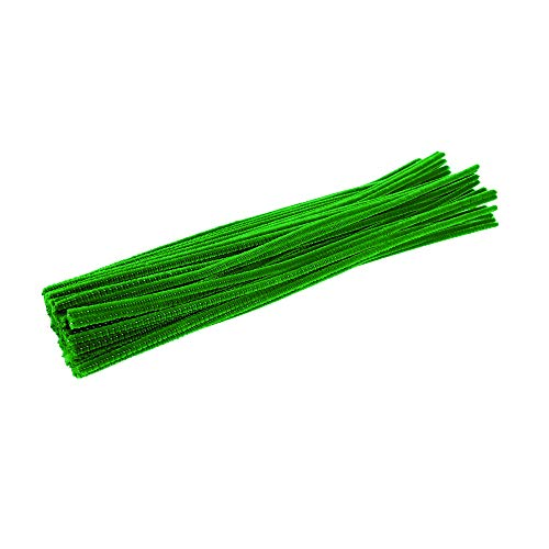 Colorations IPCGR Pipe Cleaners, Green (Pack of 100)
