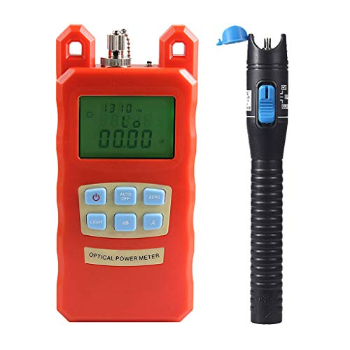 Prettyia Pack Fiber Optic Cable Tester Optical Power Meter with Sc & Fc Connector Fiber Tester +1mW Visual Fault Locator for CATV Test,CCTV Test by Prettyia (Image #3)