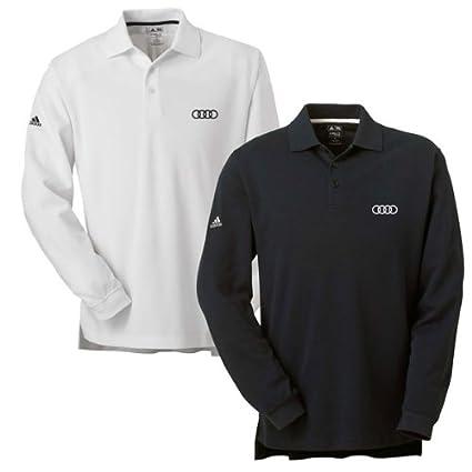 bf74c4be5 Amazon.com: Genuine Audi Men's ClimaLite Tour Pique Long Sleeve Golf Polo  Shirt by Adidas - WHITE - Size SMALL: Automotive