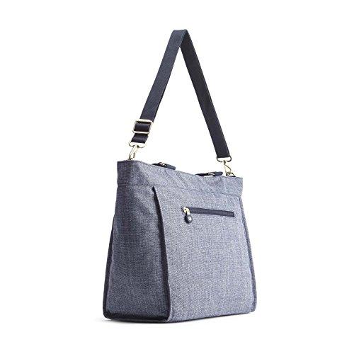 x cm Azul W Cotton Shopper H Jeans L 15x24x45 Gris para New Bandolera Mujer Bolso L x Kipling PZvwzxanw