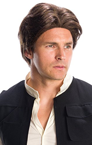 Rubie's Costume Co. Men's Adult Star Wars Han Solo Wig,As/Shown,One (Han Solo Star Wars Costume)
