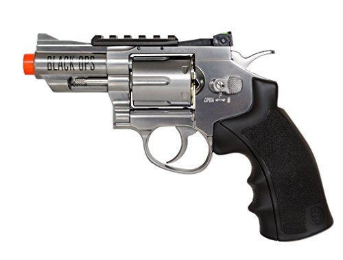 black ops exterminator full metal revolver, 2.5 chrome(Airsoft Gun)