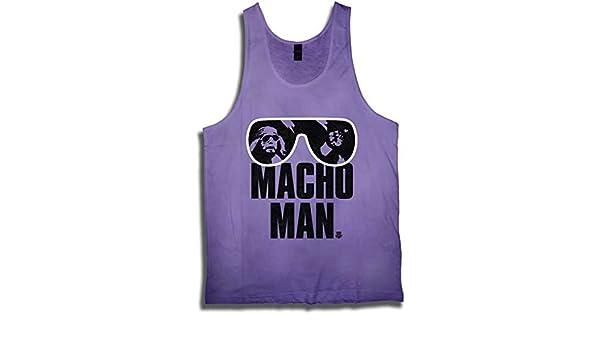 d6b05ac842aaa Amazon.com  Macho Man Randy Savage WWE Purple Mens Tank Top Shirt-L   Clothing