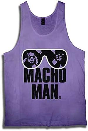 a277b142eb Amazon.com  Macho Man Randy Savage WWE Purple Mens Tank Top Shirt-L ...