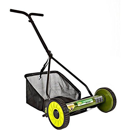 Black Reel Mower Manual with Catcher 16'' by Sun Joe