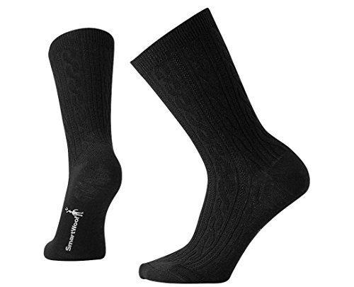 (SmartWool Women's Cable II Socks,Black,Medium B(M) US)