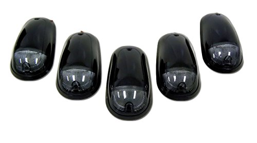 Street Smoked Lens Set (Dodge 03-15 Heavy-Duty 2500 & 3500 (5-Piece Set) Smoked Cab Roof Light Lens with Amber LED's - Complete Kit With Wiring & Hardware)