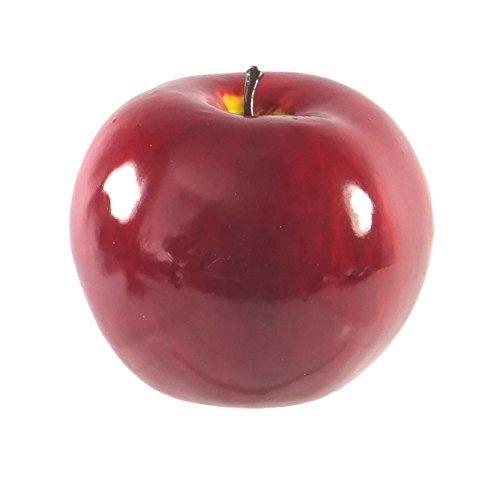 6pc Artificial Red Round Fuji Apple Apples - Plastic Fruit - Six Pieces (Plastic Apple)