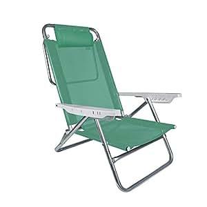 Amazon.com: Mor 6 posiciones plano aluminio silla de playa ...