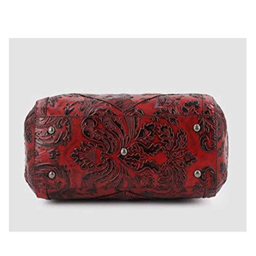 Diseño Eeayyygch Bolso De Negro Flores Para Color Rojo Rojo Marrón Mujer Mano Amarillo XUxgxfw