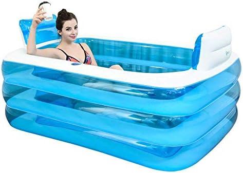 大人用インフレータブルバスタブ、折りたたみ浴槽、背もたれ枕2個付きポータブルバスタブ、カップデザイン付きスパ浴槽、長寿命、環境に優しい