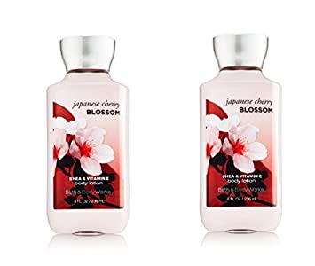 Bath Body Works Japanese Cherry Blossom Signature Collection Body Lotion 8 fl oz 236 ml – New Formula 2 Pack