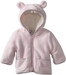Widgeon Baby Girls\' Hooded Fuzzy Jacket, Pink, 12 Months