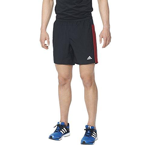 "Free adidas Men's Running Response Shorts, Medium/7"", Black/Ray Red/Inch"