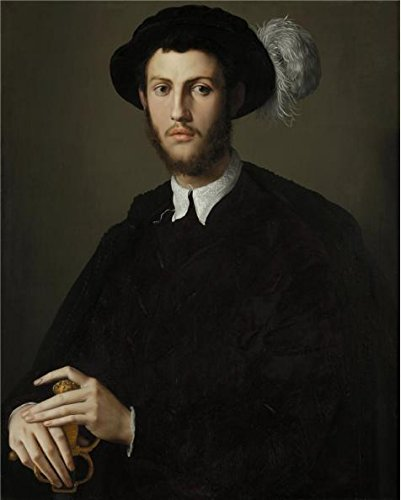 High Quality Polyster Canvas ,the Reproductions Art Decorative Prints On Canvas Of Oil Painting 'Bronzino,Portrait Of A Young Man,1550-1555', 24x30 Inch / 61x76 Cm Is Best For Wall Art Gallery Art And Home Gallery Art And Gifts