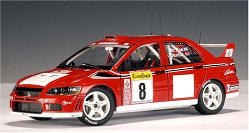 1/18 三菱 ランサー EVO VII WRC 2002 MICHELIN #8(レッド) 「RACING DIVISION」 80252