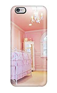 Iphone Case - Tpu Case Protective For Iphone 6 Plus- Pink Walls And Ceiling In Baby Girl Nursery wangjiang maoyi