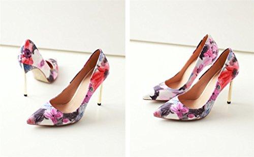 Fashion Donna Luxury Sandali A Toe A Spillo Stagioni A LUCKY Peep Sposa Abiti Tacchi Scarpe Alti Ufficio Multicolore Per Feste Da Da Donna CLOVER 4 Natural Scarpe nqWxwWAH