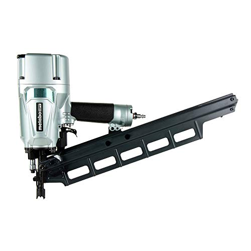 (Metabo HPT NR83A5 Pneumatic Framing Nailer, 2-Inch up to 3-1/4-Inch Plastic Collated Full Head Nails, Tool-less Depth Adjustment, 21 Degree Magazine, Selective Actuation Switch, 5-Year)