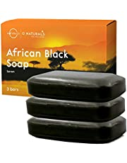 O Naturals African Black Soap Bar, Luxurious Texture Triple Milled Soap. Moisturizing Shea Butter Natural Body Soap, Vegan Face Soap. Organic Ingredients Acne Problematic Skin. Men, Women 113gr Each