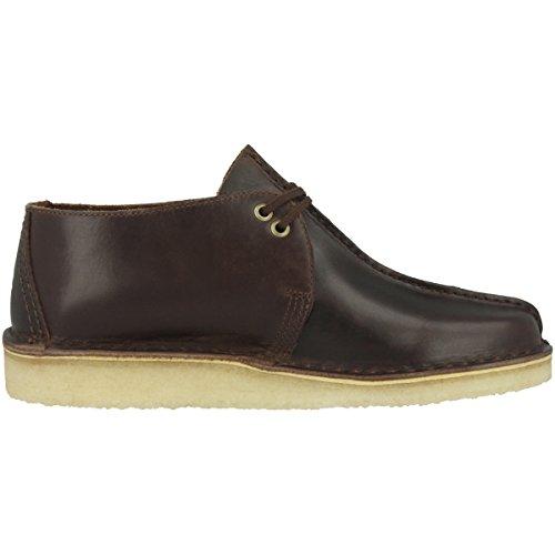Leather 26134195 Clarks Desert Beeswax Trek Cuir Hommes Chestnut Chaussures gBwq0Ung