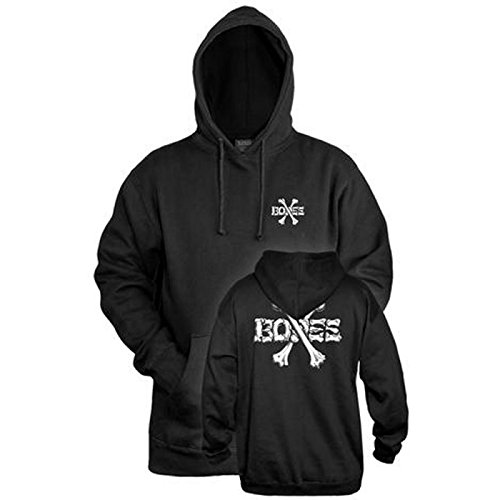 Bones Cross Bones schwarz Hooded