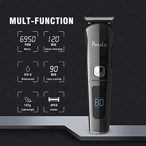 Hair Clipper Men Cordless Electric Beard Trimmer Kit Professional Body Grooming Shaver Suitable for Kids Family Barber PhylnLis 8688