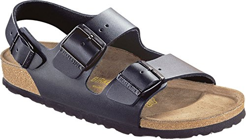 - Birkenstock Milano Smooth Leather Regular Black Size EU 37 - US L6 M4