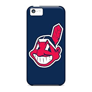 Great Cell-phone Hard Cover For Iphone 5c With Provide Private Custom Nice Cleveland Indians Pattern IanJoeyPatricia