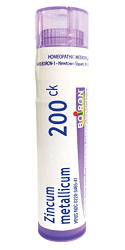 Boiron Zincum Metallicum 200CK, 80 Pellets, Homeopathic Medicine for Leg Cramps