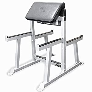 Valor Fitness CB Preacher Curl Bench for Bicep Curl Support Meant for Curling with EZ Curl Bar (Sold Separately)