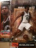 spurs alternate jersey - McFarlane Toys NBA Sports Picks Series 1 Action Figure Tim Duncan (San Antonio Spurs) White Jersey Variant