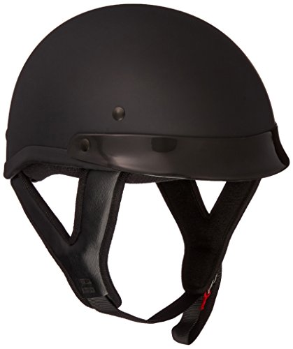 Skid Lid Traditional Helmet (Flat Black, Small)