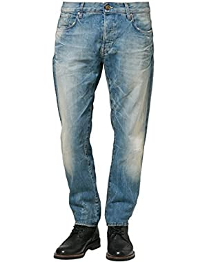 G Star RAW 3301 Tapered Straight Jeans in Union Wash Palma Denim, Size W33/L36, $170