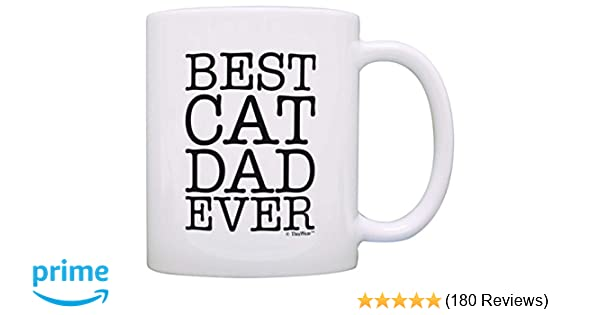 Amazon Cat Lover Gifts Best Dad Ever Pet Owner Rescue Gift Coffee Mug Tea Cup White Kitchen Dining