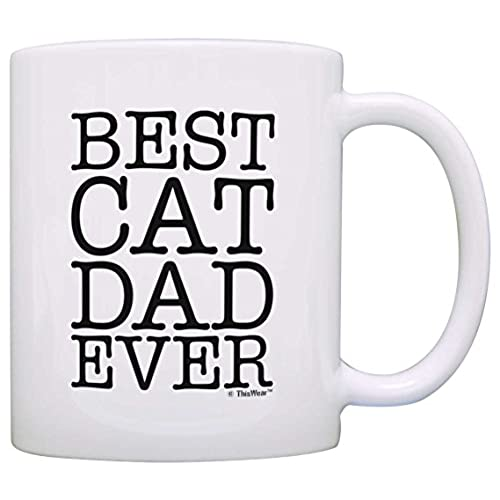 cat lover gifts best cat dad ever pet owner rescue gift coffee mug tea cup white by thiswear