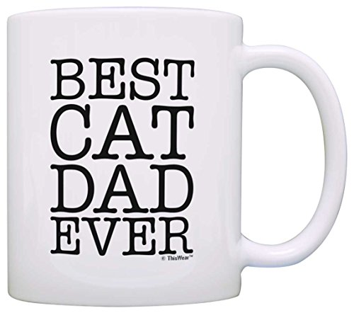 Cat Lover Gifts Best Cat Dad Ever Pet Owner Rescue Gift Coffee Mug Tea Cup ()