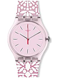 Women's Fleurie SUOP109 Pink Silicone Swiss Quartz Fashion Watch