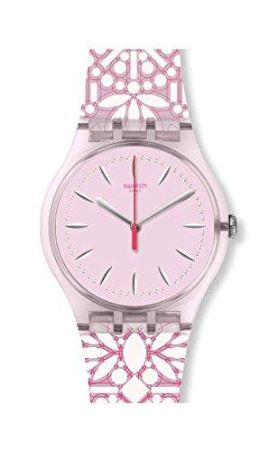 Swatch Women's Fleurie SUOP109 Pink Silicone Swiss Quartz Fashion Watch