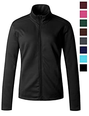 Regna X Women's Full Zip Front Benton Fleece Jacket (16 Colors/2 Fabrics/S-3 X 6 Size Choices)